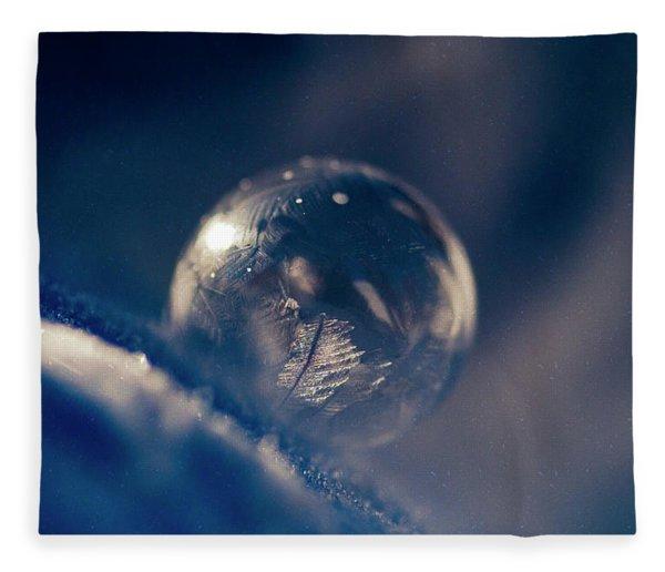 Frozen Bubble In Space Fleece Blanket