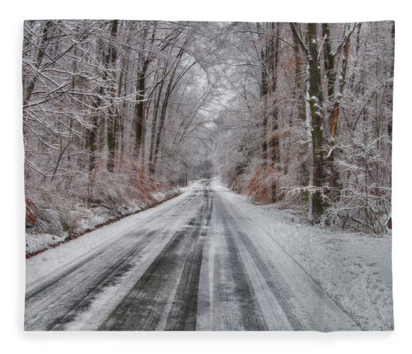 Frozen Road Fleece Blanket