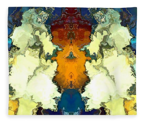Fleece Blanket featuring the digital art Fuego  by A z Mami
