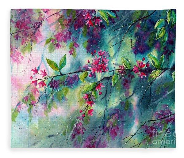 Garlands Full Of Flowers Fleece Blanket