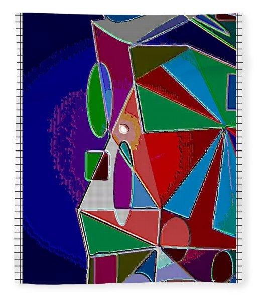 Geometric Shapes Matt Fleece Blanket