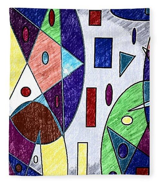 Geometric Shapes Pentagram Fleece Blanket