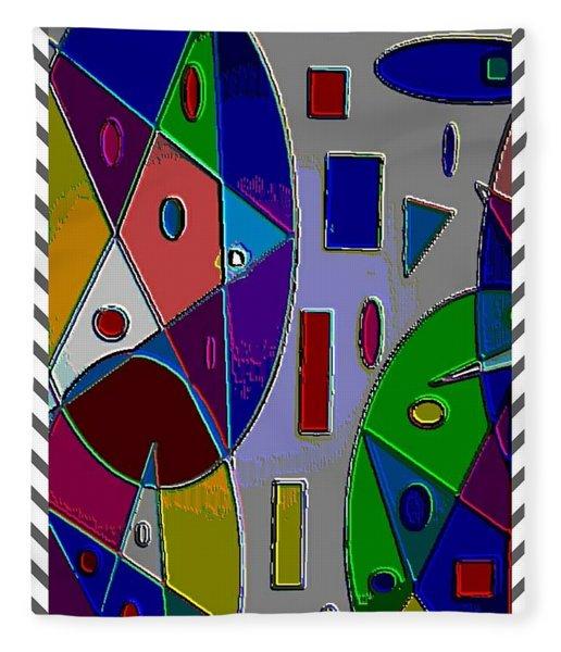Geometric Shapes Pentagram Matt Fleece Blanket