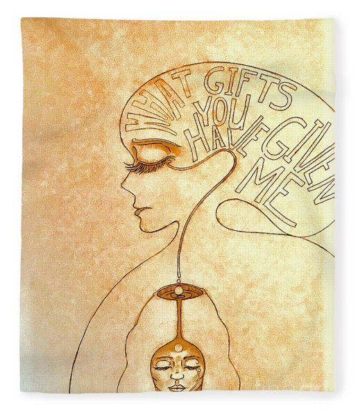 Gifts Of The Mind Fleece Blanket