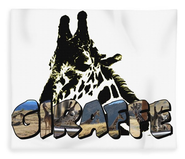 Giraffe Big Letter Fleece Blanket