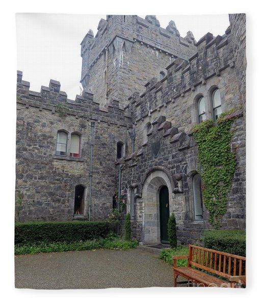 Glenveagh Castle Entrance Fleece Blanket