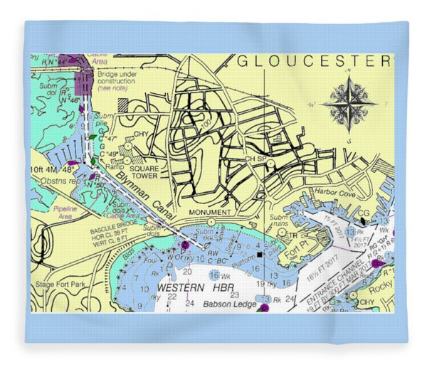 Gloucester, Ma Fleece Blanket