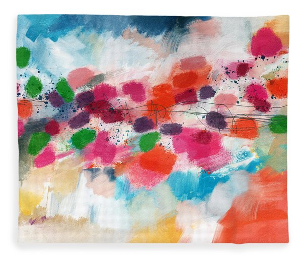 Going Somewhere- Abstract Art By Linda Woods Fleece Blanket