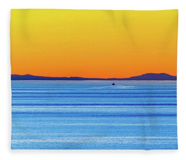 Golden Sunset Series I I Fleece Blanket