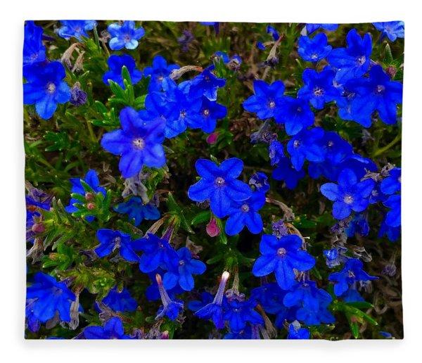 Grace In Blue Fleece Blanket