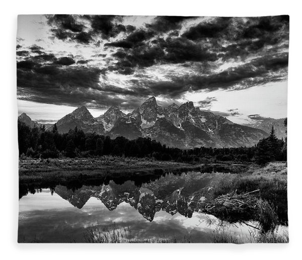 Grand Tetons, Wyoming Fleece Blanket