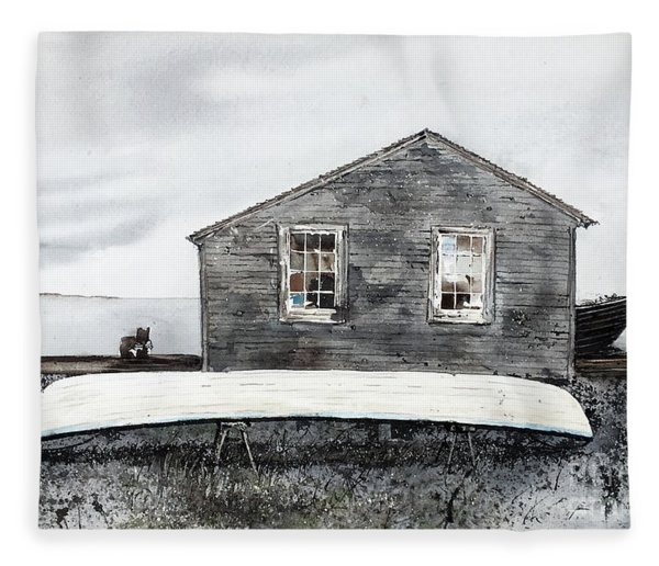 Gray Day Fleece Blanket