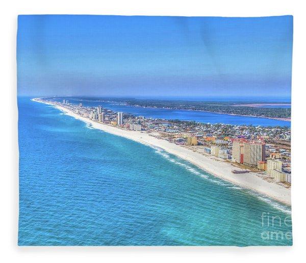 Gulf Shores Beaches 1335 Tonemapped Fleece Blanket