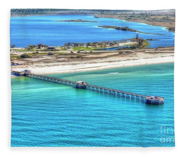 Gulf State Park Pier 7464p3 Fleece Blanket