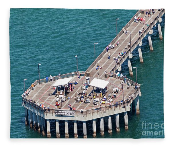 Gulf State Park Pier 7467 Fleece Blanket