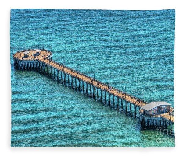Gulf State Park Pier Fleece Blanket