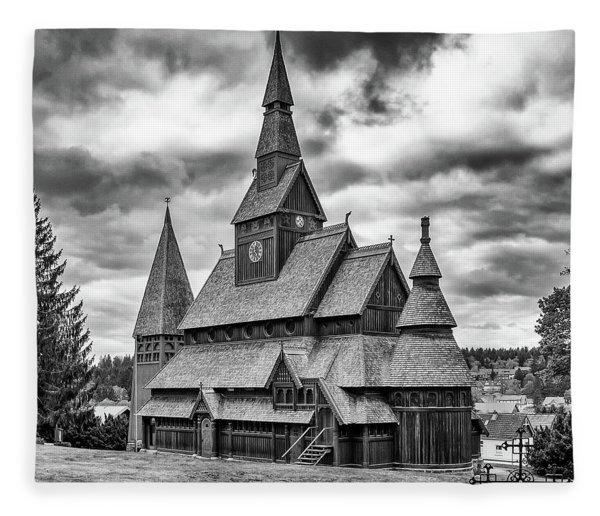 Gustav Adolf Stave Church, Harz Fleece Blanket