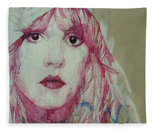 Gypsy - Stevie Nicks - Resize Fleece Blanket