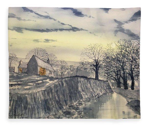 Hag Dyke By Moonlight Fleece Blanket