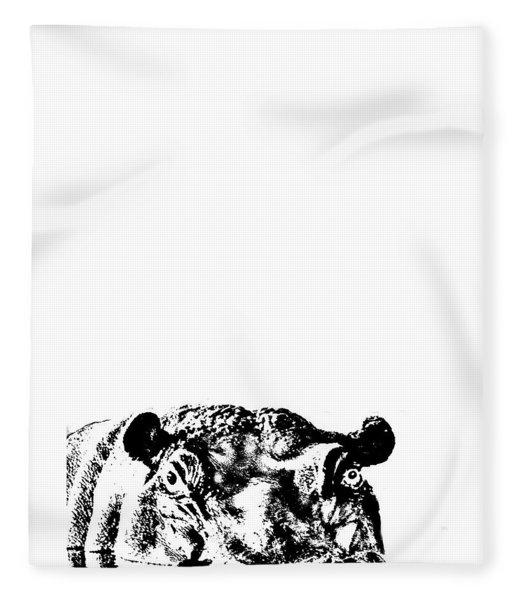 Happy Happy Hippo Fleece Blanket
