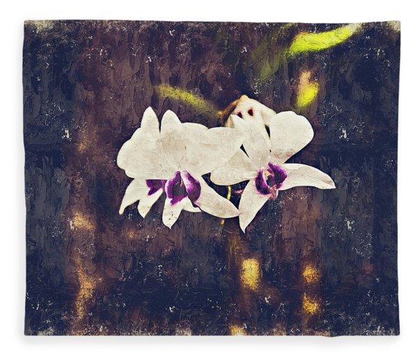 Hawaiian Tree Orchid Fleece Blanket