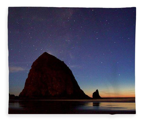 Haystack Night Sky Fleece Blanket