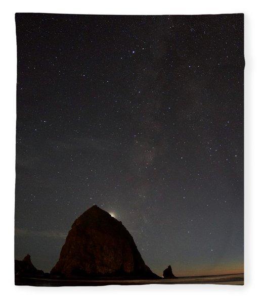 Haystack Night Under The Stars Fleece Blanket