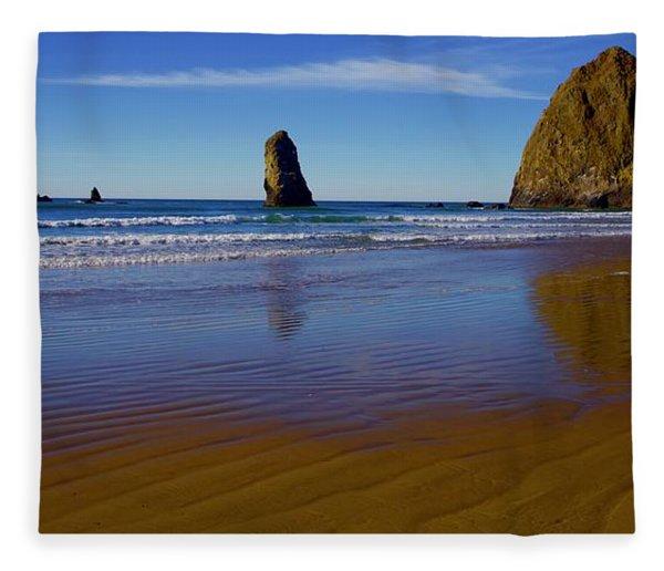 Haystack Rock Panoramic Fleece Blanket
