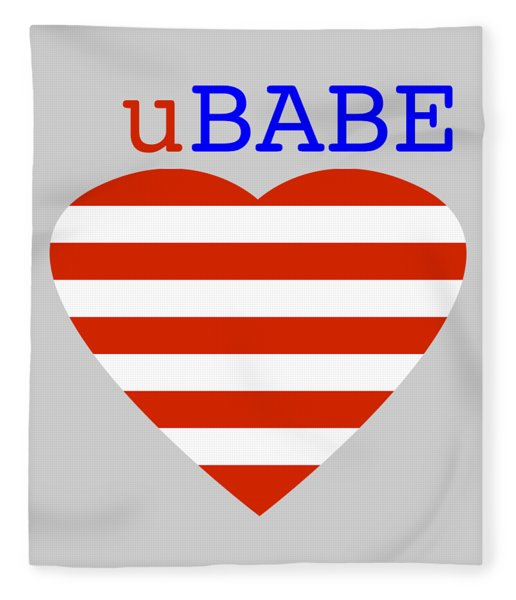 Hearts And Stripes Fleece Blanket