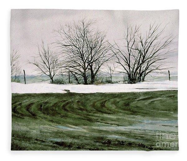Hedge Row Fleece Blanket