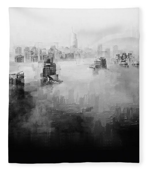 Fleece Blanket featuring the digital art High Society by ISAW Company