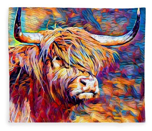 Highland Cow 6 Fleece Blanket