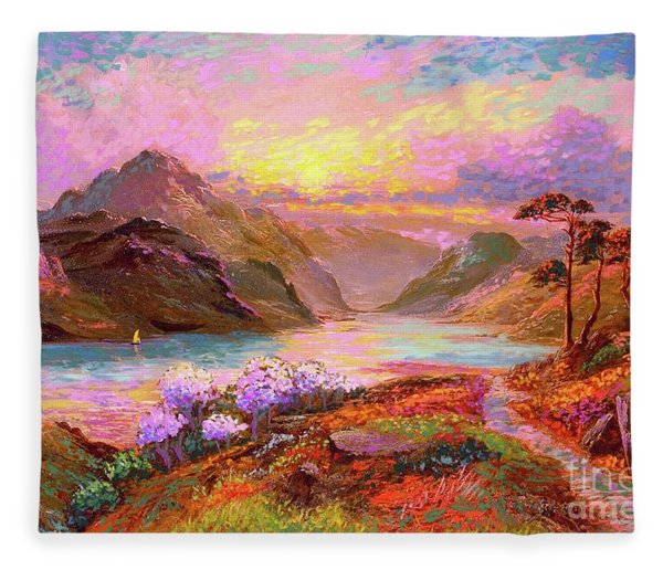 Highland Lake Fleece Blanket
