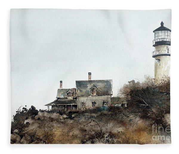 Highland Lighthouse Fleece Blanket