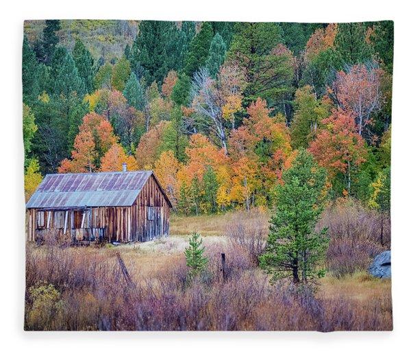 Hope Valley Cabin Fleece Blanket