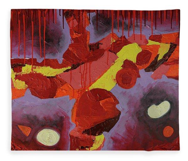 Hot Red Fleece Blanket