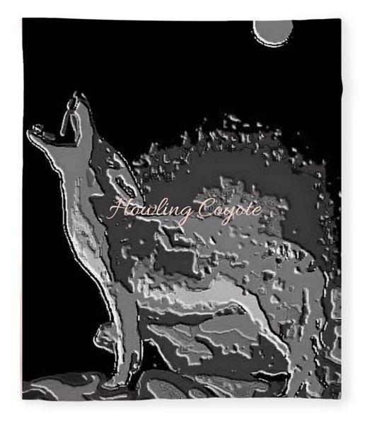 Howling Coyote Fleece Blanket