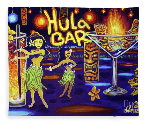 Hula Bar Fleece Blanket