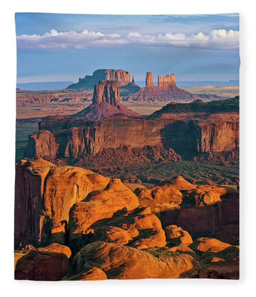 Hunts Mesa Sunrise Fleece Blanket