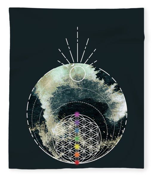Fleece Blanket featuring the digital art I Am by Bee-Bee Deigner