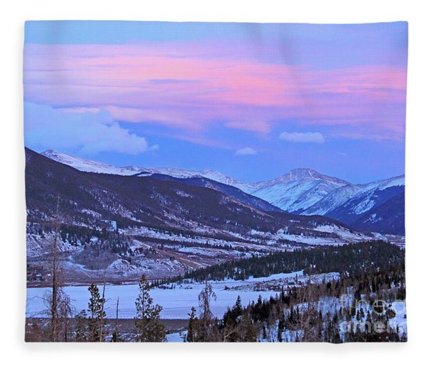 Ice Pink Clouds  Fleece Blanket