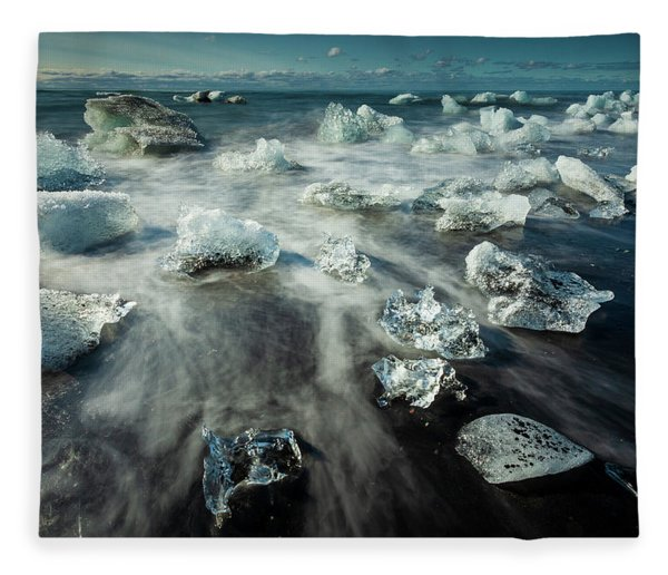 Iceberg Beach Fleece Blanket