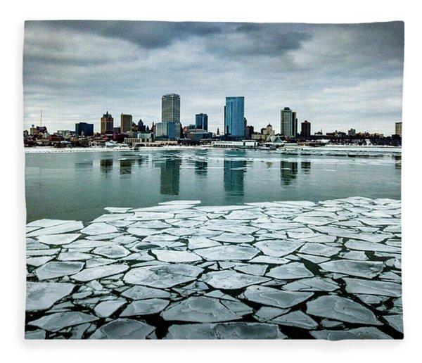 Icy Skyline Fleece Blanket