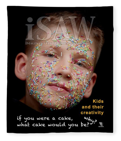Fleece Blanket featuring the digital art If You Were A Cake by ISAW Company