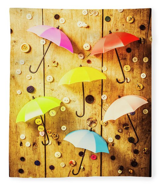 In Rainy Fashion Fleece Blanket