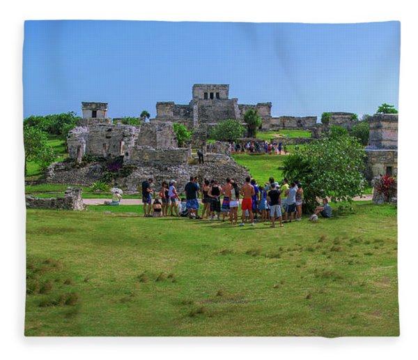 In The Footsteps Of The Maya Fleece Blanket