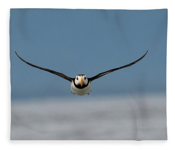 Incoming Puffin Fleece Blanket