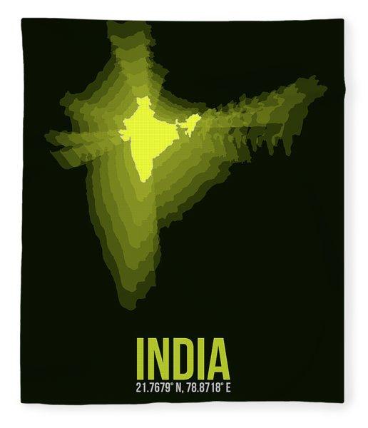 India Radiant Map 2 Fleece Blanket