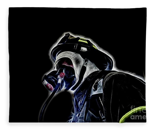 Interior Firefighter Enhanced   Fleece Blanket