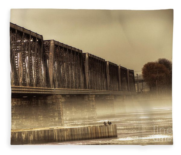 International Bridge Fleece Blanket